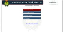 uno screen shot dell'app per la gestione del catasto cimiteriale